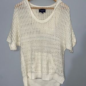 Women's American Eagle Pullover Hooded Sweater Size Small.